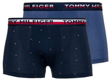 Tommy Hilfiger dvojité balenie pánskych boxeriek UM0UM01233 2P TRUNK PRINT S tmavomodrá