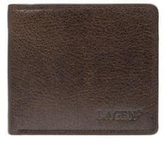 Lagen Moška usnjena denarnica 1154 Dark rjava