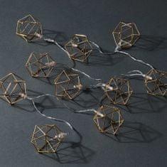Butlers LED Světelný řetěz kovové kostky 10 světel
