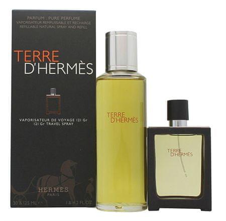 Hermès Terre D` Hermes - EDP 30 ml (za ponovno polnjenje) + parfum polnilo 125 ml