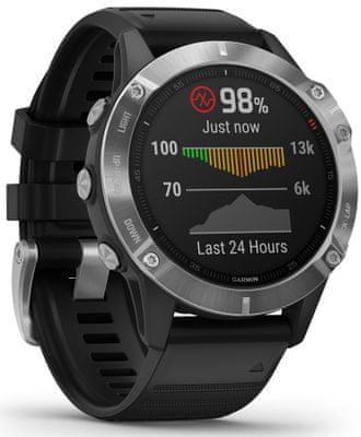 Inteligentné hodinky Garmin fénix 6, optické sledovanie tepu, srdcovej činnosti, variabilita pulzu, okysličenie krvi, aeróbna vytrvalosť, VO2 Max, bežecké cyklistické metriky