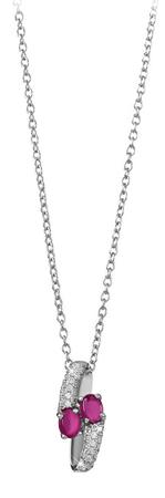 Silver Cat Modna srebrna ogrlica s cirkoni SC310 (veriga, obesek) srebro 925/1000
