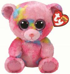 TY Beanie Boos Franky - ružový medveď 24 cm