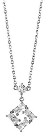 Silver Cat Négyzetes ezüst nyaklánc cirkóniákkal SC334 ezüst 925/1000