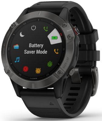 Smartwatch Garmin fénix 6 Sapphire , długa żywotność baterii, wodoodporny, odporny, szkło hartowane, szkło szafirowe, wojskowy standard