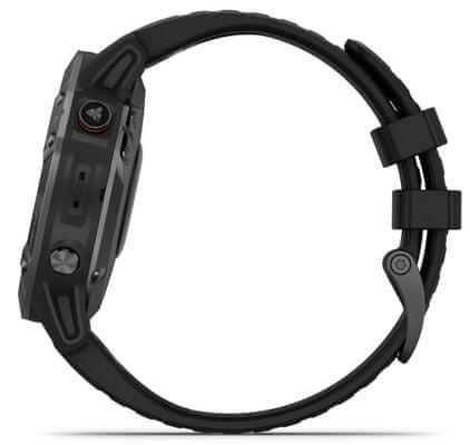 Smartwatch Garmin fénix 6 Sapphire , odtwarzacz muzyki, płatności zbliżeniowe, powiadomienia z telefonu i z aplikacji