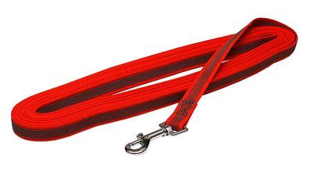 BAFPET Stopovacia šnúra, popruh pogumovaný, 10 m červená
