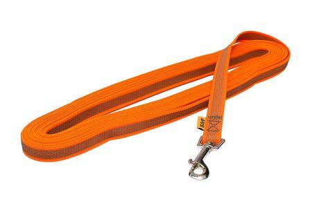BAFPET Stopovacia šnúra, popruh pogumovaný, 10 m oranžová