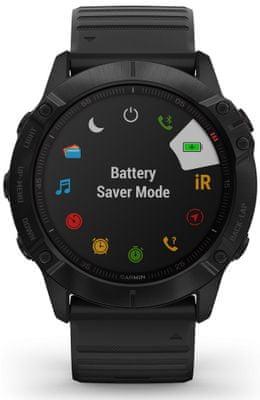 Chytré hodinky Garmin fénix 6X PRO, dlouhá výdrž baterie, voděodolné, odolné, tvrzené sklo, gorilla glass, vojenský standard