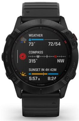 Chytré hodinky Garmin fénix 6X PRO, optické sledování tepu, srdeční činnost, variabilita pulzu, okysličení krve, aerobní vytrvalost, VO2 Max, běžecké cyklistické metriky