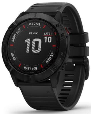 Chytré hodinky Garmin fénix 6X PRO, smart watch, pokročilé, outdoorové, sportovní, odolné, dlouhá výdrž baterie, hudební přehrávač