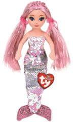 TY Mermaids Cora - růžová mořská panna 45 cm s otočnými flitry