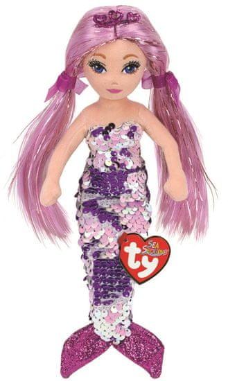 TY Mermaids Lorelei - fialová morská panna 45 cm s otočnými flitrami