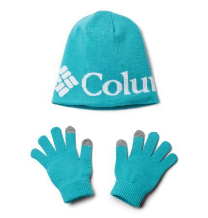 Columbia otroška kapa in rokavice, univerzalna, turkizna