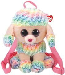 TY Gear backpack Rainbow - barevný pudl 25 cm