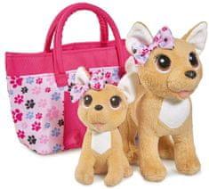ChiChi Love rodzina piesków chihuahua w torbie
