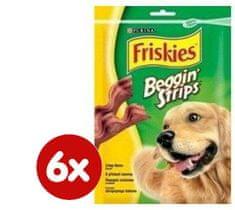 Friskies Beggin Strips s príchuťou slaniny 6 x 120g