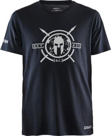 Craft moška majica s kratkimi rokavi Spartan SS Casual , L, črna