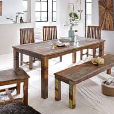 Bruxxi Jídelní stůl z recyklovaného dřeva Kalkutta, 120 cm, mango