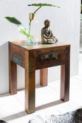 Bruxxi Nočný stolík s recyklovaného dreva Kalkutta, 55 cm, mango