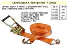 GMP Popruh upínací s ráčnou 4t/10m/50mm