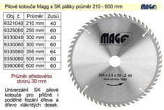 MAGG Pilový kotouč s SK plátky 355x30mm 60 zubů Magg