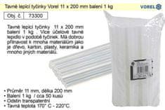 TOYA Tavné lepící tyčinky TO-73300 rozměr 11x200mm balení 1kg