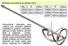 Festa Míchadlo pravotočivé se závitem 160 x 600 mm