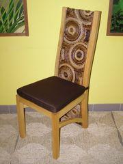Jídelní židle Haifa-banánový list-borovice