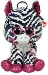 TY Fashion Sequins batůžek s otočnými flitry Zoey - zebra