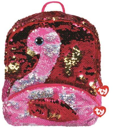 TY Fashion Sequins large Gilda hátizsák átfordítható flitterekkel - flamingó