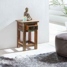 Bruxxi Odkladací stolík z recyklovaného dreva Kalkutta, 30x50 cm, mango