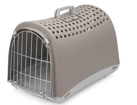 IMAC Kutya- és macskaszállító-doboz, műanyag, szürke 50x32x34,5 cm