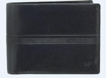 Marta Ponti moška denarnica, usnjena, črna