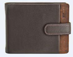 Marta Ponti moška denarnica MP Travel, usnjena, rjava