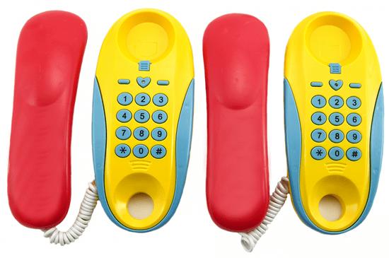 Teddies Telefony pokoj na baterie 2ks vzdálenost 8m