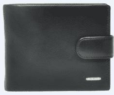 Marta Ponti moška denarnica Platina, usnjena, črna