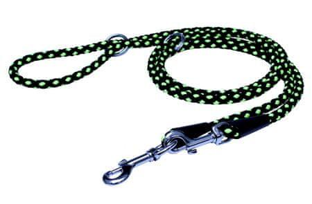 BAFPET Állítható kötélpóráz CSOMÓ 2,4 m zöld 1.sz.