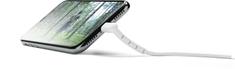 CellularLine Cellularline Vista Apple Lightning s funkcí stojánku, 120 cm, bílý, USBDATASTANMFI1MW