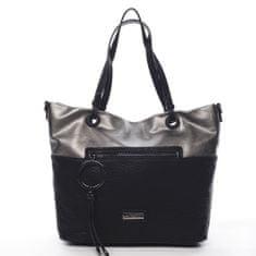 Pierre Cardin Módní dámská koženková kabelka Manfred Pierre Cardin černá