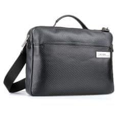 Calvin Klein Pánská kožená taška na notebook 13'' Carbon K50K504797