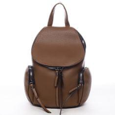 Maria C. Mestský koženkový batôžtek Damien, hnedý L