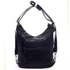 Romina & Co. Bags Dámská koženková kabelka/batoh Clotilde černá
