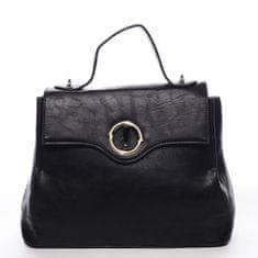 Maria C. Dámska priestranná taška s klopou Lucile, čierna