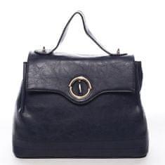 Maria C. Dámská prostorná taška s klopou Lucile modrá