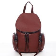 Maria C. Mestský koženkový batôžtek Damien, červený L