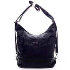 Romina & Co. Bags Dámská koženková kabelka/batoh Basilide černá
