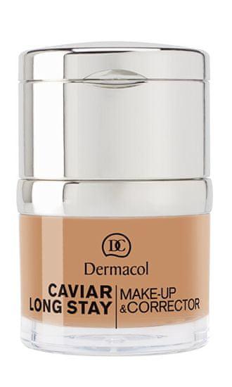Dermacol Dlhotrvajúci make-up s výťažkami z kaviáru a zdokonaľovací korektor ( Caviar Long Stay Make-Up & Cor (Odtieň 3 Nude)