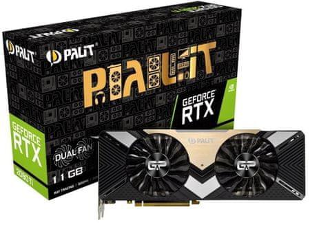 PALiT Dual GeForce RTX 2080 Ti, 11 GB GDDR6 grafična kartica