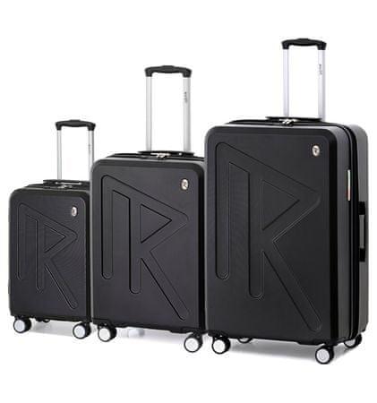 Raido Utazó bőrönd szett Numero Uno Black Mood Line